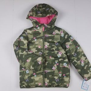 New CARTER'S water resistant hooded puffer jacket